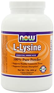 NOW Foods Lysine Powder, 1 Pound