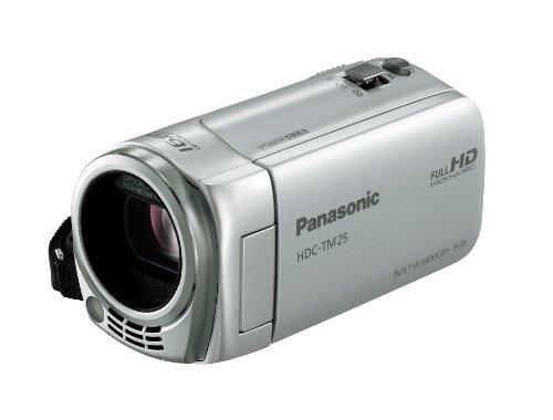 Panasonic デジタルハイビジョンビデオカメラ TM25 内蔵メモリー8GB シルバー HDC-TM25-S