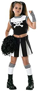 Girls Bad Spirit Cheerleader Costume - Child Large