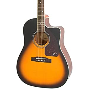 Epiphone AJ-220SCE Acoustic Electric Guitar, Vintage Sunburst