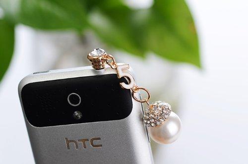 Big Mango Fashion Bling Diamond Pearl And Number 5 3.5Mm Headphone Jack Accessories Anti Dust Plug Ear Cap For Apple Iphone 5C,5S,5,4,4S,Ipad 2,Ipad 3,Ipad 4,Ipad Mini,Ipod Touch ,Samsung Galaxy S2 S3 S4 Galaxy Note 3 Note 2 Htc,Blackberry ( White)