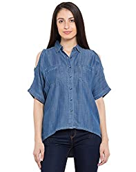 TARAMA Blue color Solid Shirt for women