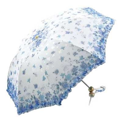 Paradise Bistratal Etamine Foldable Umbrella, Anti-UV Sun Umbrella, Parasol Series & Colors Varies