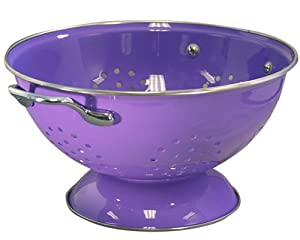 Calypso Basics 3 Quart powder coated  Colander, Purple