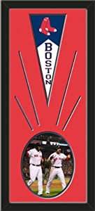 Boston Red Sox Wool Felt Mini Pennant & David Ortiz and Jacoby Ellsbury Photo -... by Art and More, Davenport, IA