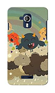 CimaCase Funny Monsters Designer 3D Printed Case Cover For Micromax Canvas Magnus A117