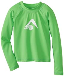 Kanu Surf Little Boys\' Platinum Long Sleeve Rashguards, Green, 5T