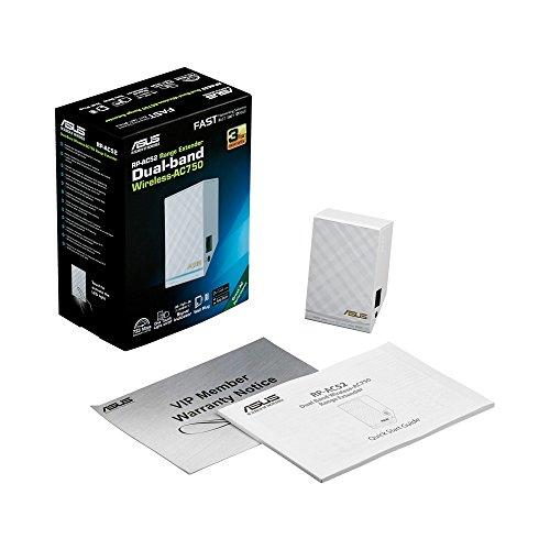 ASUS RP-AC52 - Repetidor de red (10/100Base-T(X), IEEE 802.11a, IEEE 802.11ac, IEEE 802.11b, IEEE 802.11g, IEEE 802.11n, IEEE 802.3, IEEE 802.3u, 802.11a, 802.11ac, 802.11b, 802.11g, 802.11n, 110-240V, 50/60 Hz, 5V) Color blanco