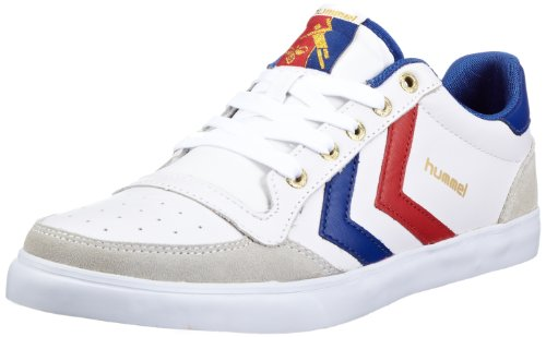Hummel Men's Stadil Low Trainer White/Blue/Red/Gum 630649228 10 UK