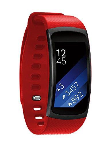 Elobeth F š ¹ r Samsung Gear Fit II Cinturino Smart Watch silicone strap 5.9in 7.48in orologio Band B š ¹ Gel F š ¹ r di ricambio per SAMSUNG GEAR FIT2SM R360Fitness Tracker, rosso