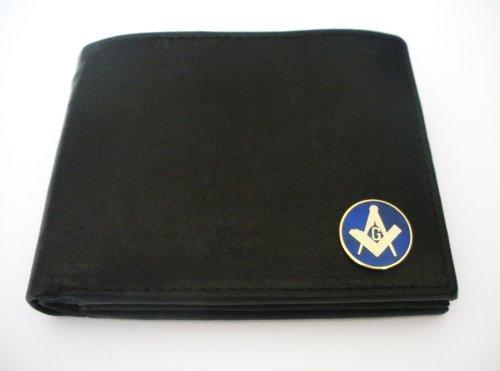 Mason(Free Mason-Masonic) Men'S Bi-Fold Italian Leather Wallet