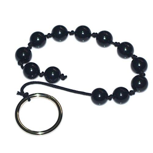 women's black pearls female anal sex plug beads
