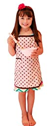 Retro Pink & Chocolate Polka Dot Apron