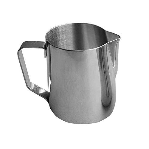 Pot à Lait en Acier Inox pour Café Mousse de Lait Café Crème Pot à lait pour Mousseur avec Echelle de Capacité 500ML/1000ML