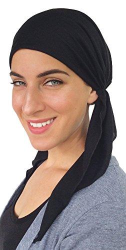 Pre Tied Head Scarf Fitted Bandana Tichel (Black Beauty) (Pre Tied Tichel compare prices)