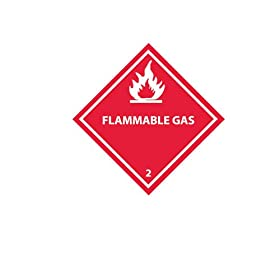 "Nmc Dot Shipping Labels - 4X4"" - Flammable Gas 2 - 500/Roll"