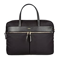 Knomo Hanover Slim Briefcase for 14-Inch Laptop - Black
