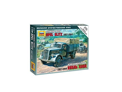 German Opel Blitz Truck 1937-44 (Snap Kit) 1/100 Zvezda - 1