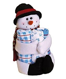 4 Pc Holiday Gift Towel Set-Snowman