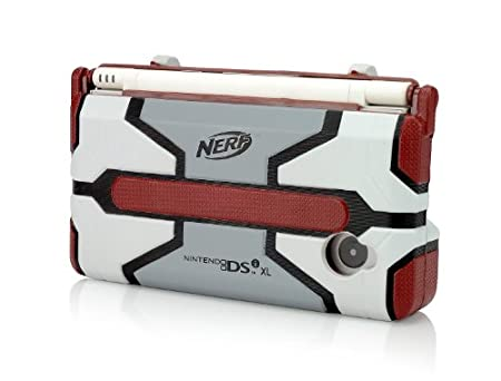 DSiXL Nerf Armor - Red/Light Grey