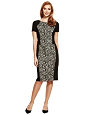 M&S Collection Animal Print Ponte & Bodycon Dress