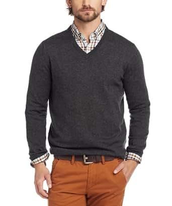 ESPRIT Herren Pullover Regular Fit 093EE2I003, Gr. 48 (M), Grau (077 anthra grey melange)