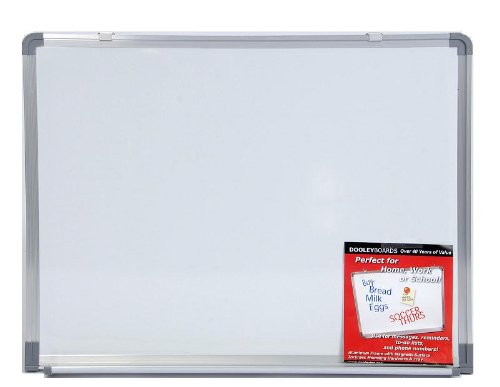 Dooley Boards Aluminum Framed Dry Erase Board, 18 x 24 Inch, Silver (1824MBA)