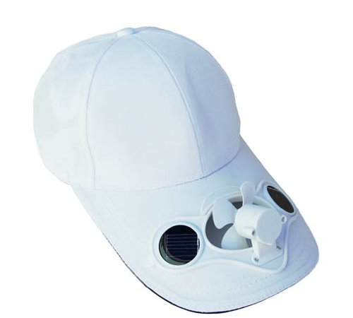 Solaration® 7001 White Fan Baseball Golf Hat - 1