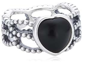Pandora Damen-Ring 925 Sterling Silber Onyx schwarz Gr. 56 (17.8) 190874ON-56