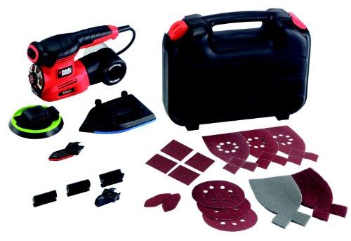 Black-Decker-220-Watt-Multischleifer-Autoselect-4-in-1-Schleifer-inklusive-Zubehr-und-im-Koffer-KA280K