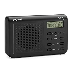 pure one mi palm sized portable dab fm radio black. Black Bedroom Furniture Sets. Home Design Ideas