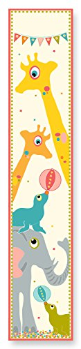 The Kids Room by Stupell Giraffe, Elephants and Seals Growth Chart