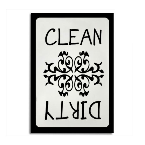 Cafepress New Clean/Dirty Magnet Rectangle Magnet - Standard Multi-Color