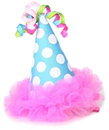 Mud Pie Baby-Girls Infant Chiffon Party Hat Clip, Multi Colored, One Size