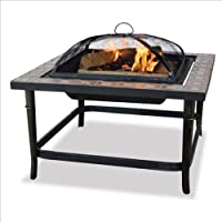 Blue Rhino UniFlame Ceramic Tile Outdoor Fireplace