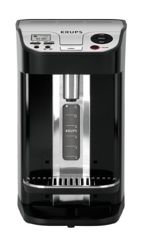 KRUPS KM900 Cup on Request Programmable Coffee Maker with Precise Warming Technology, 12-cup, Black