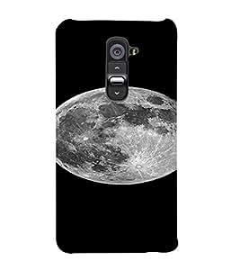PrintVisa Moon Design 3D Hard Polycarbonate Designer Back Case Cover for LG G2