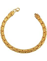 Memoir Gold Plated Carving Tube Shape Design, Heavy Bracelet For Men And Women