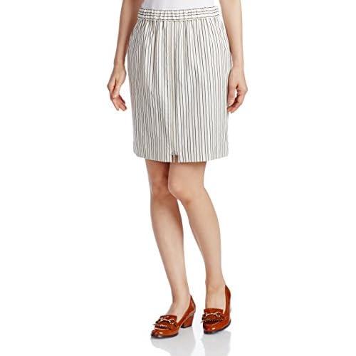 (アメリカンラグシー) AMERICAN RAG CIE ストライプタイトスカート 210-ASH-L142-SK006 OW/MX White配色 F