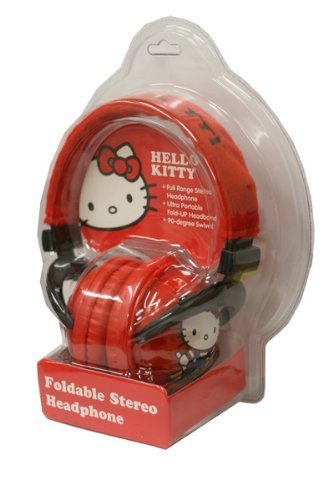 Hello Kitty Foldable Stereo Headphones, Colors May Vary