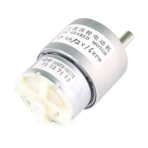 HOSSEN® 37mm 12V 15RPM Electric Mini Geared Box DC Motor f. DIY High Torque by hossen