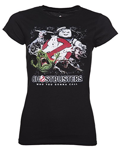 Womens Black Ghosts And Monsters Ghostbusters T