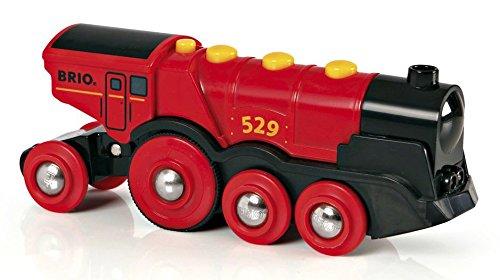 Brio - Gran locomotora a pilas con luz y sonido, color rojo (33592)