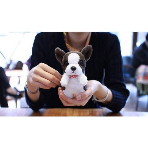 Best Price Brown/ White Boston Terrier W/ Red Bowtie OEM Goda Mypetcase Plush Snap On Case W/ Stand For iPhone 5