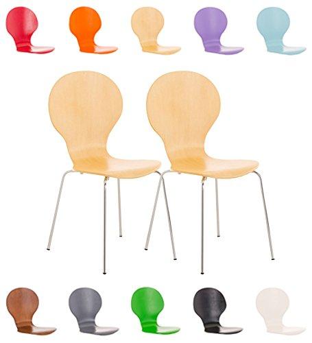 2-x-CLP-robusto-e-cura-leggero-impilabili-sedia-DIEGO-con-legno-sedile-ergonomico-seduta-fino-a-10-colori-a-scelta