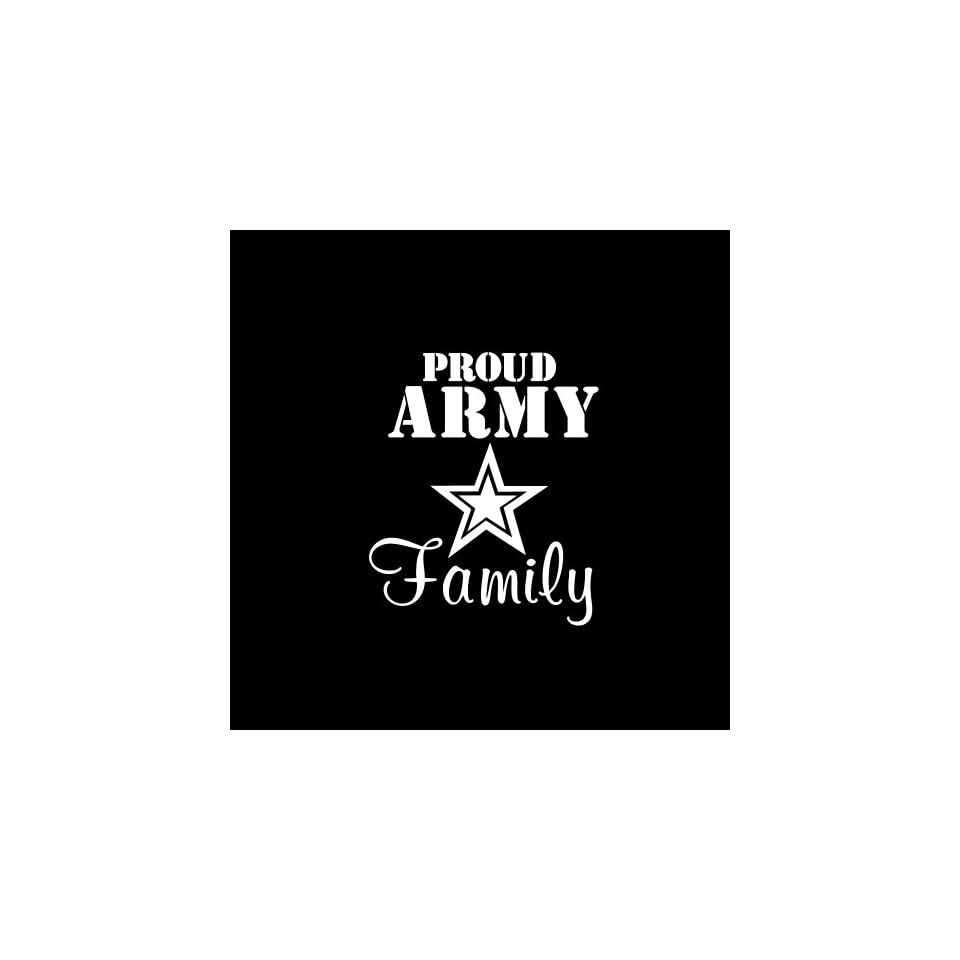 "Army Proud Family Car Window Decal Sticker White 5"" Automotive"