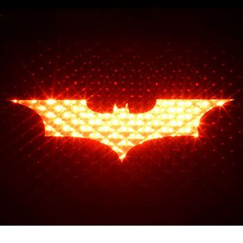 BATMAN BEGINS - 3rd Third Brake Light Vinyl Decal Mask Kit #1077 | Vinyl Color: Black