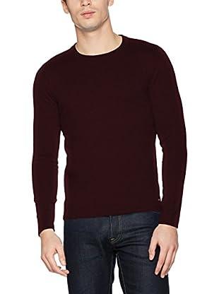 TOM TAILOR Camiseta Manga Larga (Rojo)