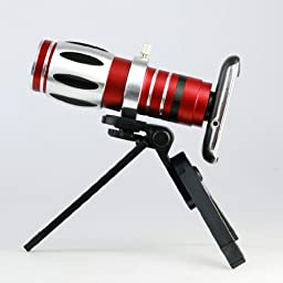 17x Zoom Optical Telescope Camera Lens Kit +Mini Tripod & Case for Samsung Galaxy S3
