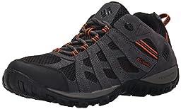 Columbia Men\'s Redmond Trail Shoe, Black/Heatwave, 11.5 M US